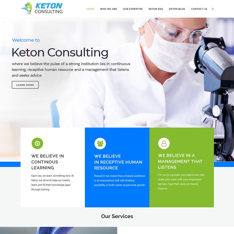 Keton COnsulting Website